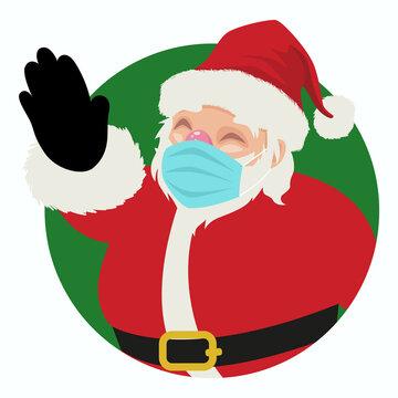 Santa Claus Wearing Medical Mask