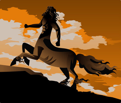 pottery mythology centaur half horse half human creature