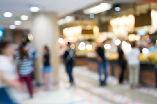 Defocused Image Of People In Shopping Mall
