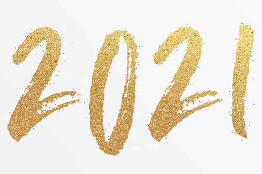 2021 - happy new year 2021 gold