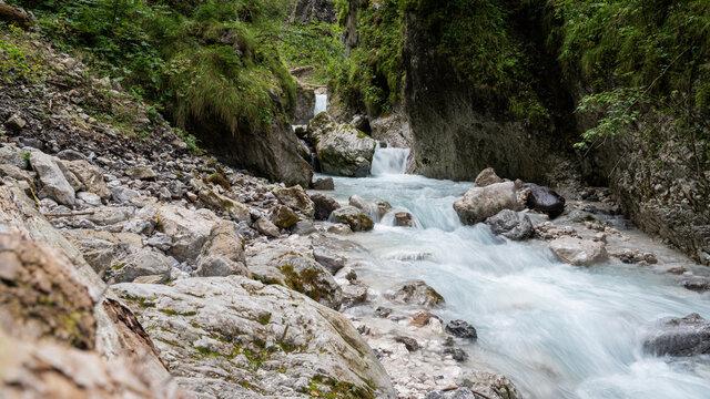 Stream of water running through beautiful nature