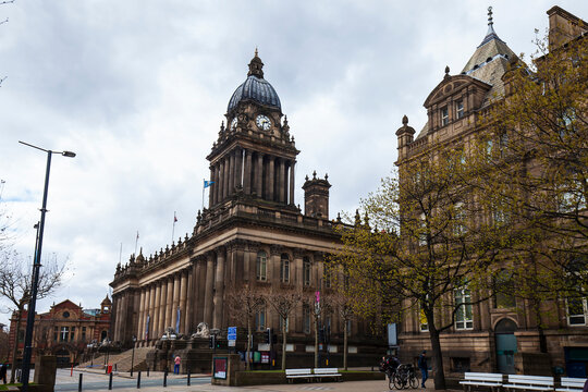 Town Hall in Leeds, Great Britain.