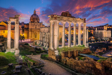 Famous Ruins of Forum Romanum