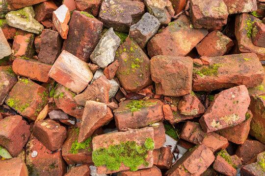 Gebrochene Ziegelstein Trümmer