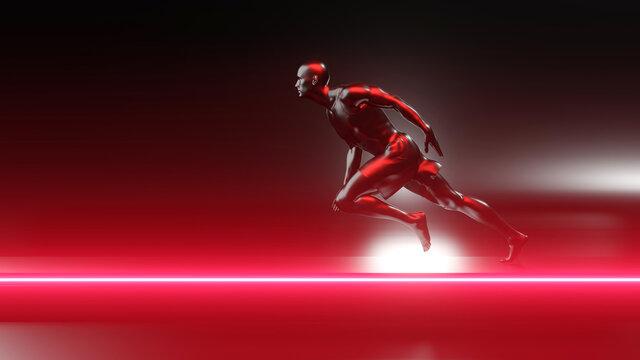 Unstoppable runner on the track
