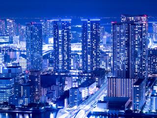 Fototapete - 東京都 勝どきの高層マンション群