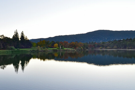 Vasona Lake & Reflection, Los Gatos, Santa Clara, California