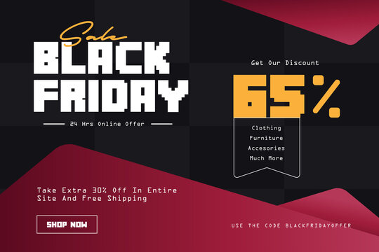 Black Friday sale good illustration for the needs of banner posters, landing pages, websites, black Friday templates, sale world