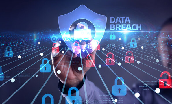 Cyber security data protection business technology privacy concept. Data breach