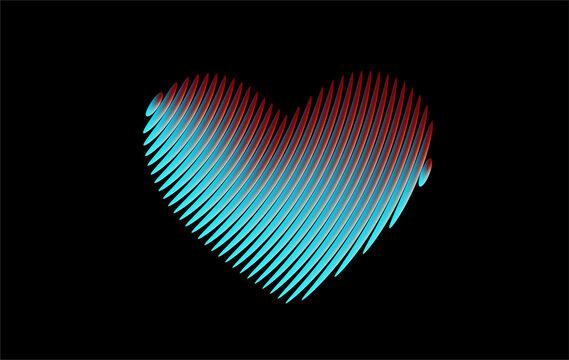 Heart Icon Love symbol. Valentine's Day sign vector graphic.
