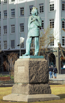Monument to the composer Edvard Grieg in Bergen, Norway