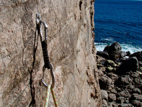 securing the rope, safety when climbing