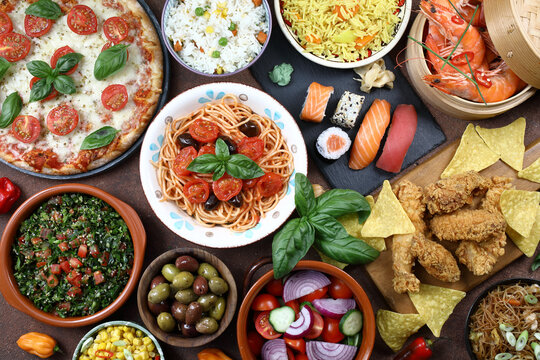 cibo internazionale o dieta mediterranea