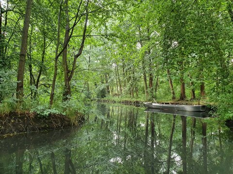 Canal in Spreewald in Germany