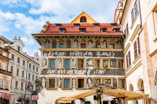 Minute House on Old Town square in Prague, Czech Republic