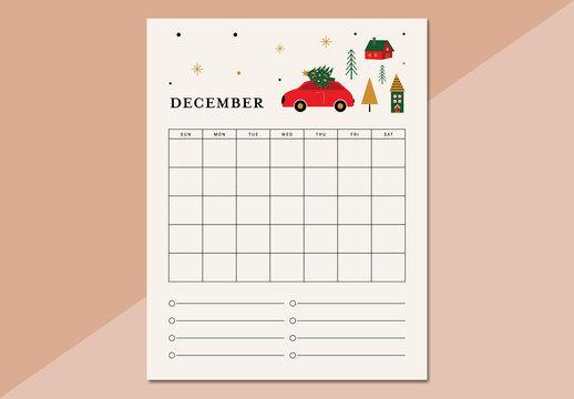 Christmas Calendar Layout