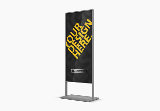Advertising Stand Mockup Side View