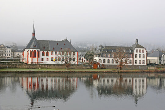 Bernkastel-Kues town in Germany by the Moselle River