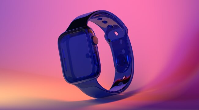 smartwatch 3d isolated midern style