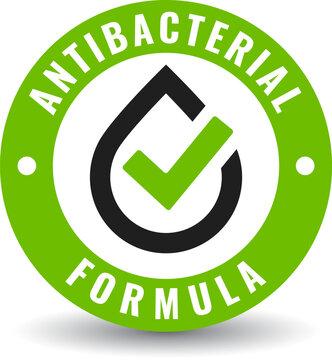 Antibacterial formula vector icon