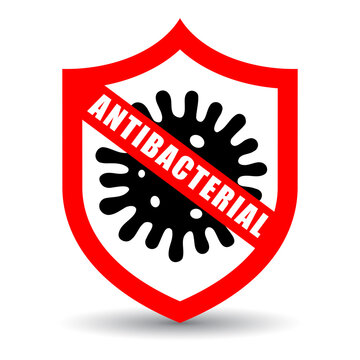 Stop virus, antibacterial vector icon