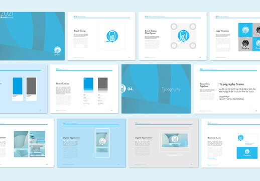 Minimal Blue Style Grand Guidelines