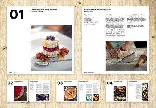 Recipe Sheets Layout
