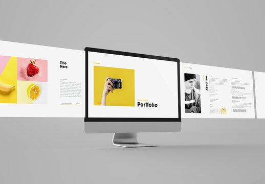 Minimal Yellow and Black Digital Portfolio Layout