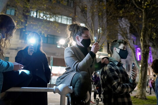 Demonstration on the International Day for the Elimination of Violence Against Women, in Bilbao