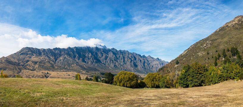 View of  Bayonet Peaks, Queenstown Area, New Zealand