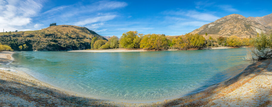 The Shotover River as viewed from the Twin Rivers Trail, Queenstown Area, New Zealand