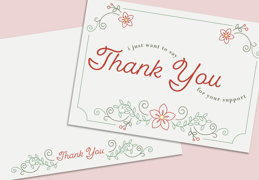 Floral Thank You Card Layout