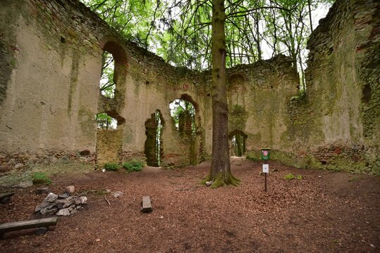 St Mary Magdalene Chapel Ruins in Maly Blanik nature reserve is a cultural heritage from 18th century.
