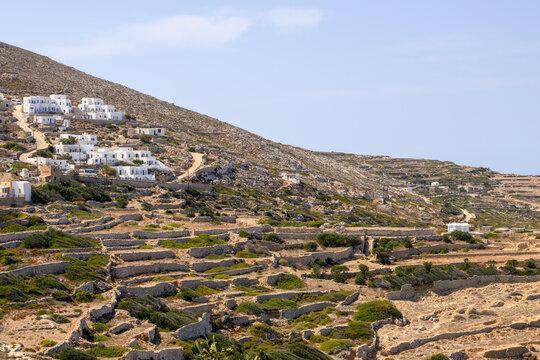 Folegandros, beautiful and small Greek island in the Aegean Sea. Cyclades, Greece