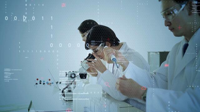 研究者のグループ 科学とテクノロジー