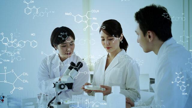 科学者のグループ 研究開発