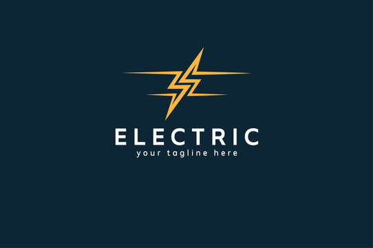 Electric Logo. abstract letter S from negative space lightning bolt , tunder bolt design logo template, vector illustration