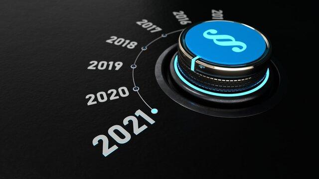 Ein Drehknopf schaltet auf das Jahr 2021 um und damit ändern sich die Gesetze.