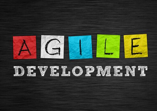 Agile Development chalkboard message