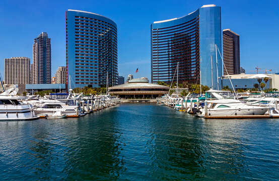 A View on hotel Marriott in San Diego,California,United States of America.