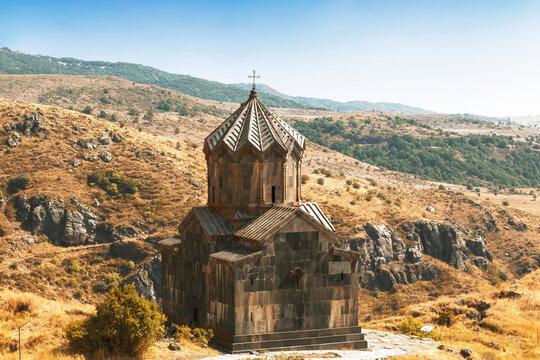 Armenia, Church of the 11th century Vahramashen near the fortress Amberd