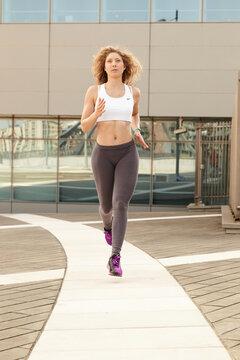running woman - urban environment