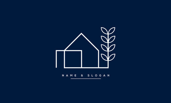 Building home nature logo vector template