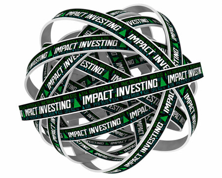 Impact Investing Stock Market Companies Responsible Ethical 3d Illustration