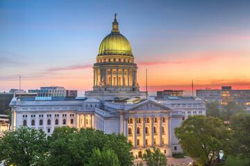 Fototapeta Madison, Wisconsin, USA state capitol obraz