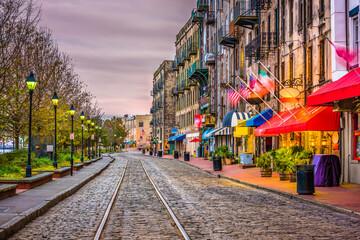Fototapeta River Street, Savannah, Georgia, USA obraz