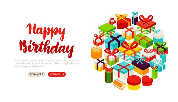 Happy Birthday Lettering Banner