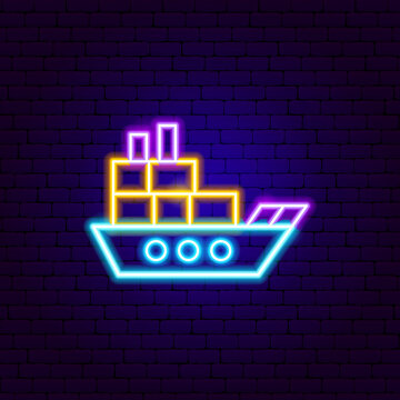 Cargo Boat Neon Sign