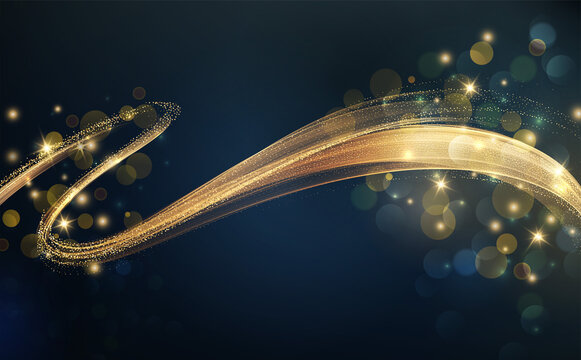 Holiday Abstract shiny color gold design element