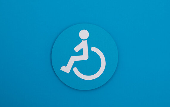 disability wheelchair  icon symbol paper